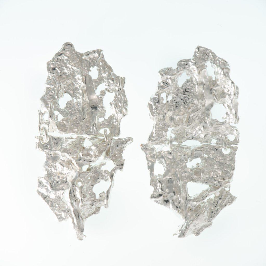 Cusidore Earrings. Handmade silver jewellery